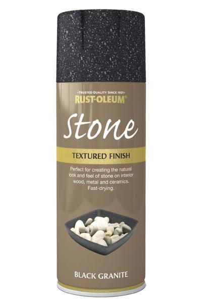 Spray imitujący kamień Rust-Oleum Stone - czarny granit