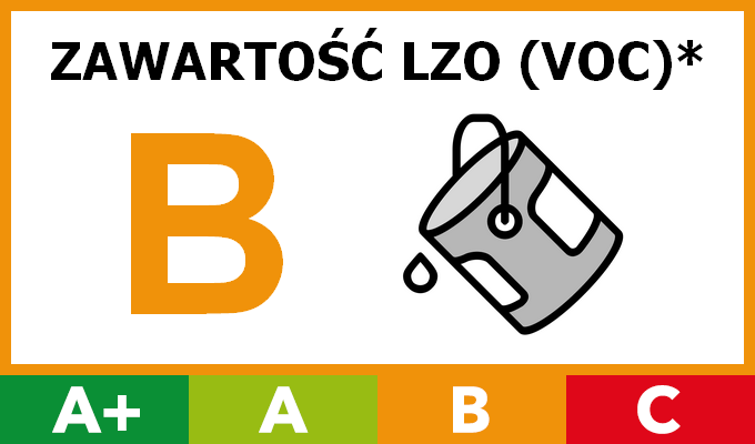 Znak Eco B - LZO poniżej 250 g/l