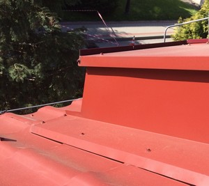 Malowanie dachu RAL 3009 Czerwony tlenkowy