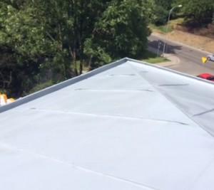 Malowanie dachu RAL 7001 Szary stalowy