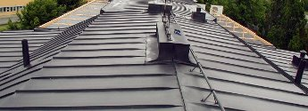 Uszczelnianie dachów metalowych, z blachy, przemysłowych
