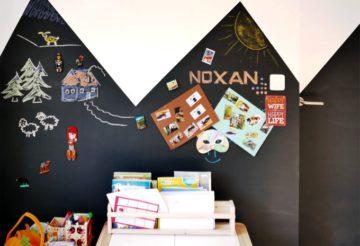 Ściana tablicowo-magnetyczna w pokoju dziecka
