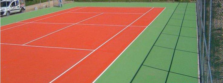 Farba do kortów tenisowych, boisk gruntów sportowych