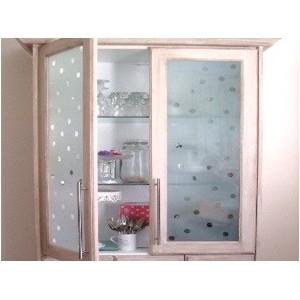 Szyby pomalowane dekoracyjnie Sprayem oszronione szkło