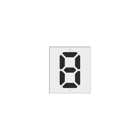 Szablon cyfry LCD